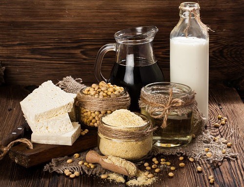 bigstock Soy products soy flour tofu 120326774