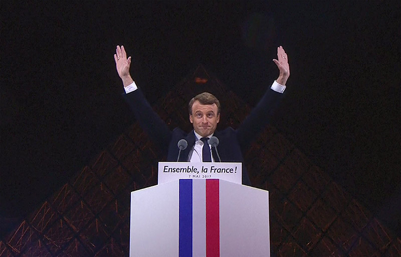 Τελικά αποτελέσματα: Πρόεδρος της Γαλλίας ο Μακρόν με ποσοστό 63,21%