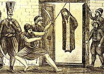 Πατριάρχης Γρηγόριος Ε΄- O απαγχονισμός και η συγκλονιστική απαγγελία του Αριστοτέλη Βαλαωρίτη
