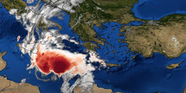 Κακοκαιρία «Ιανός»: Πώς κινείται ο Μεσογειακός Κυκλώνας LIVE